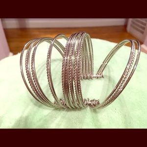 Park Lane Flair cuff bracelet, silver tone